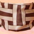 Rachel Weissman Headband Brown and Tan cross design
