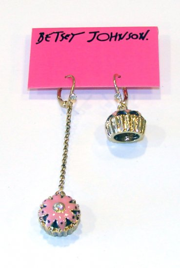 Betsey Johnson Jewelry Betsey Goes To Paris Long Cupcake Earring
