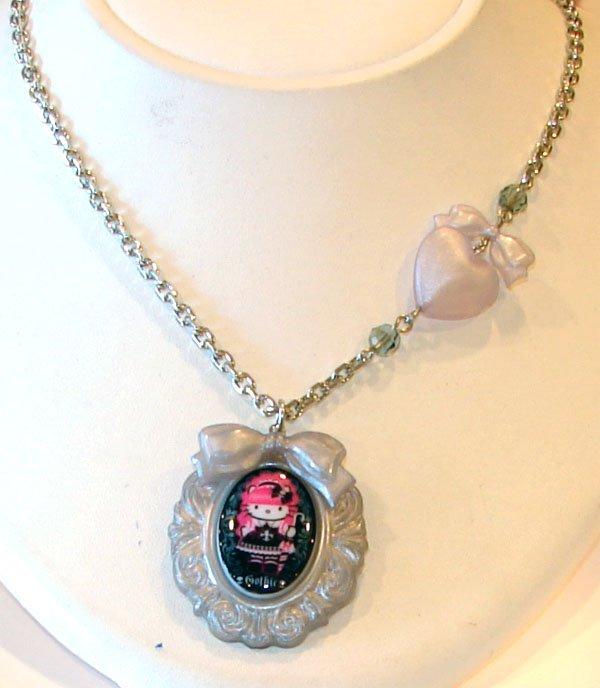 Tarina Tarantino Jewelry Hello Kitty Baroque Grey Necklace