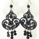 Tarina Tarantino Jewelry Classic Lucite Dangle Earrings Black