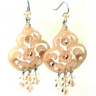 Tarina Tarantino Jewelry Classic Lucite Dangle Earrings Nude