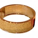 Betsey Johnson Jewelry Gold Snakeskin Bangle