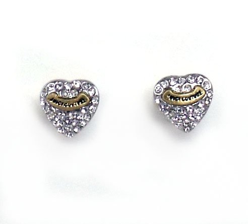 Juicy Couture Jewelry Pave Heart Studs