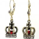 Betsey Johnson Jewelry Royal Engagement Crown Drop Earrings