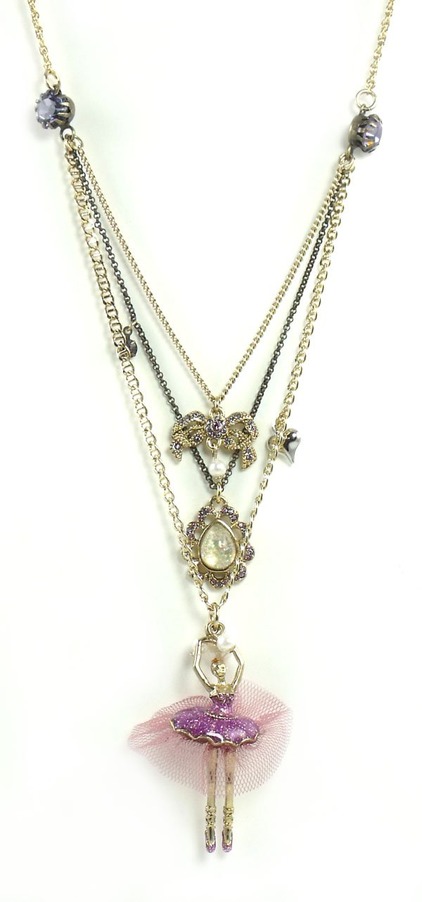 Betsey Johnson Jewelry Tzarna Princess Ballerina Layer Necklace