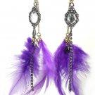 Betsey Johnson Jewelry Tzarna Mirror Feather Earrings