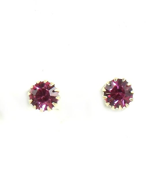 Betsey Johnson Jewelry Tzarna Pink Crystal Stud Earrings