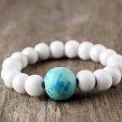 HANDMADE Porcelain beads elastic bracelet