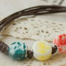 HANDMADE Porcelain beads bracelet colorful