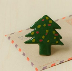 HANDMADE Porcelain christmas tree handpainted christmas gift