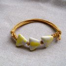 HANDMADE Porcelain beads bracelet yellow dotted