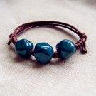 HANDMADE Porcelain beads bracelet turquoise