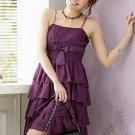 Cake Layers Chiffon Suspender Purple