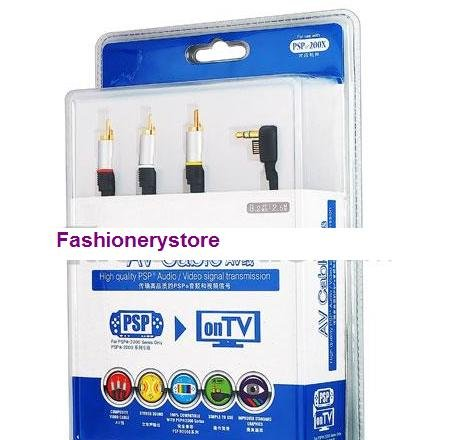 PSP Slim 2000 AV cable Audio Video Composite TV-out Cable