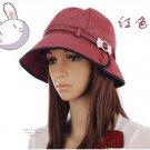 Fashion Lady's Round Hat Red