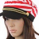 Stripes Pattern Navy Cap Red