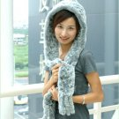 Real Rabbit Fur Multi Function Scarf Grey