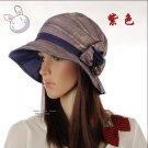 Flowers Princess Hat Purple