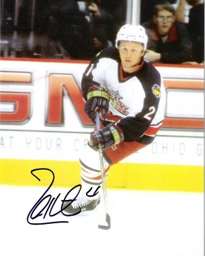 Espen Knutsen Columbus Blue Jackets signed 8x10 photo