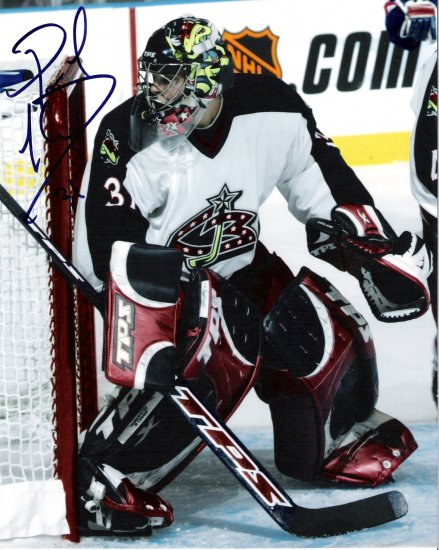 Pascal Leclaire Columbus Blue Jackets signed 8x10 photo