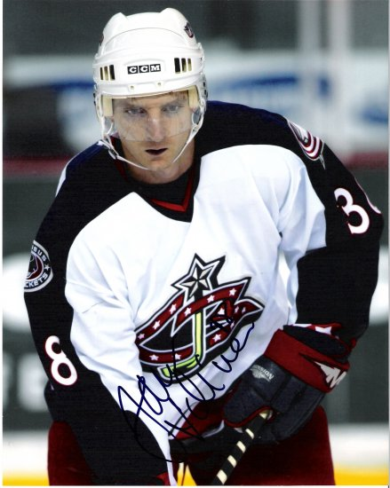 Jan Hrdina Columbus Blue Jackets signed 8x10 photo