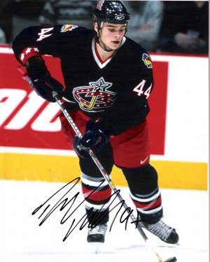Rostislav Klesla Columbus Blue Jackets signed 8x10 photo
