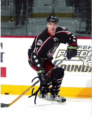 Dan Fritsche Columbus Blue Jackets Signed 8x10 photo