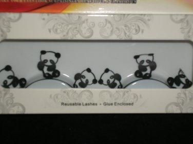 #8 Fashion fake reuseable eyelashes (panda  picture) G NBU NBW NBO
