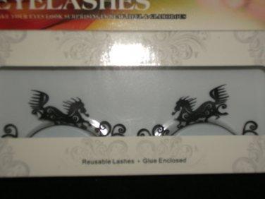 #9 Fashion fake reuseable eyelashes (horse  picture) G NBU NBW NBO