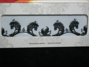 #10 Fashion fake reuseable eyelashes (zebra  picture) G NBU NBW NBO