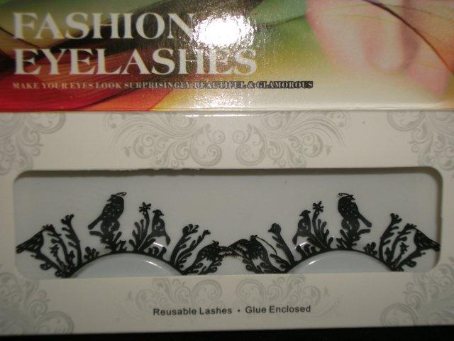 #12 Fashion fake reuseable eyelashes (bird  picture) G NBU NBW NBO