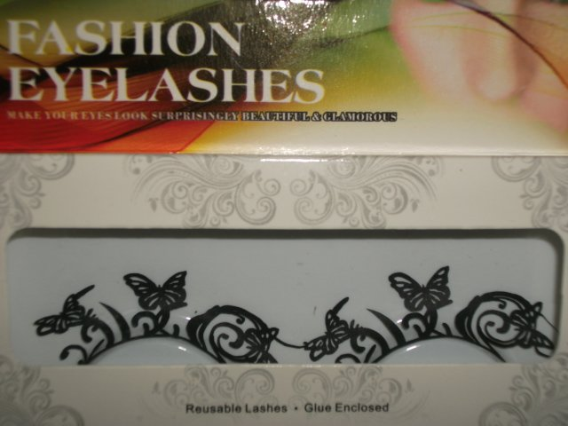 #19 Fashion fake reuseable eyelashes (butterfly picture) G NBU NBW NBO
