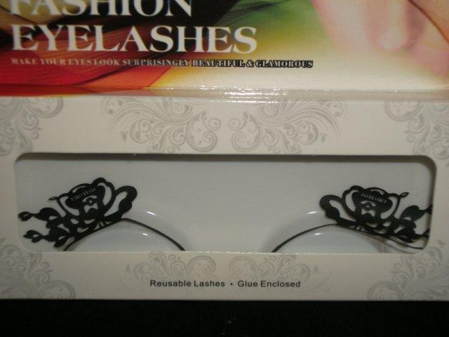 #27 Fashion fake reuseable eyelashes (flower picture) G NBU NBW NBO