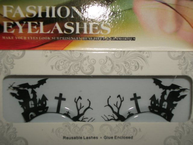 #50 Fashion fake reuseable eyelashes (bat and house picture) G NBU NBW NBO