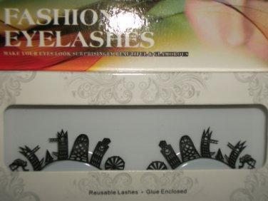 #51 Fashion fake reuseable eyelashes (building picture) G NBU NBW NBO