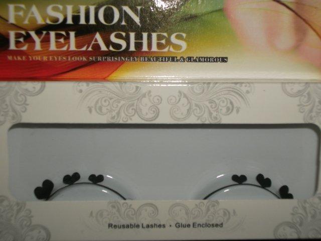 #52 Fashion fake reuseable eyelashes (hearts picture) G NBU NBW NBO