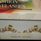 #58 Fashion fake reuseable eyelashes (gold flower picture) G NBU NBW NBO
