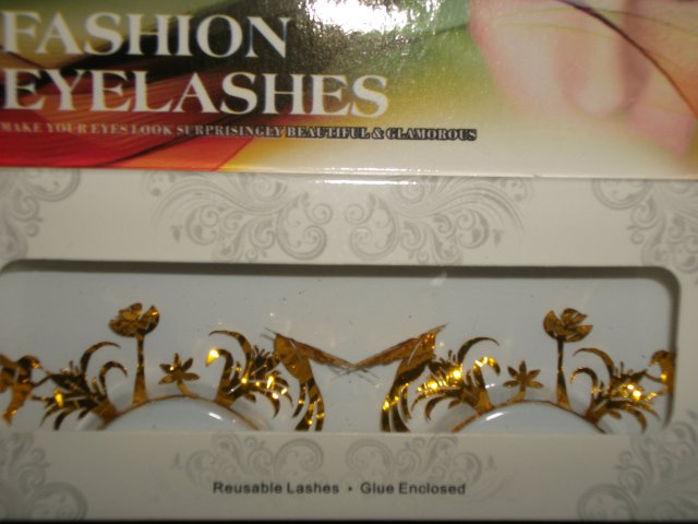 #59 Fashion fake reuseable eyelashes (gold bird picture) G NBU NBW NBO