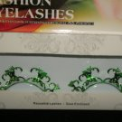 #60 Fashion fake reuseable eyelashes (green pattern picture) G NBU NBW NBO
