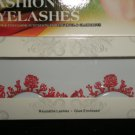 #61 Fashion fake reuseable eyelashes (red flower picture) G NBU NBW NBO