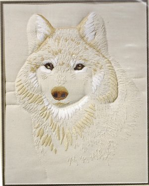 WHITE WOLF- candlewicking