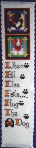 PUPPIES  (bookmark) - embroidery