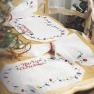 MERRY CHRISTMAS- placemat and napkin set - embroidery