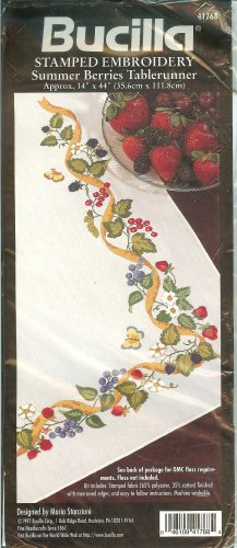 Bucilla Summer Berries Tablerunner