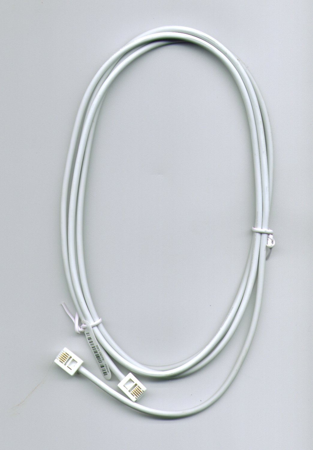 NEW GENUINE OEM ORIGINAL APPLE MAC  WHITE RJ-11 MODEM PHONE CABLE 591-0075 (6 foot long)