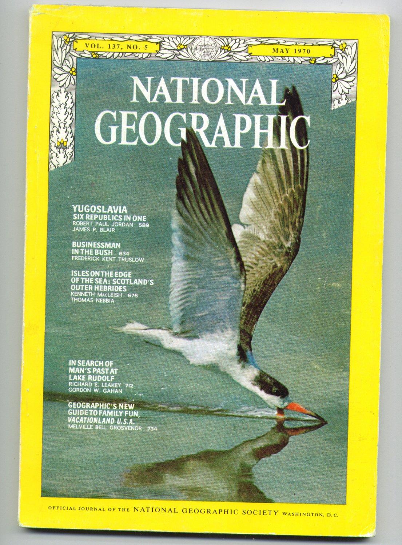 NATIONAL GEOGRAPHIC - MAY 1970 - Vol. 137, No. 5 - YUGOSLAVIA & more - with FREE Shipping!