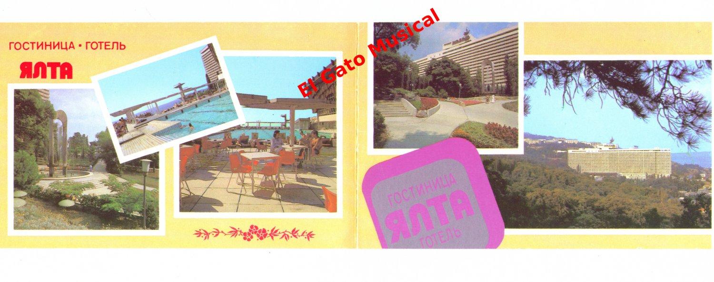 USSR Soviet Russian Postcard - Gostinitsa Hotel Yalta, Yalta, Crimea 1980s