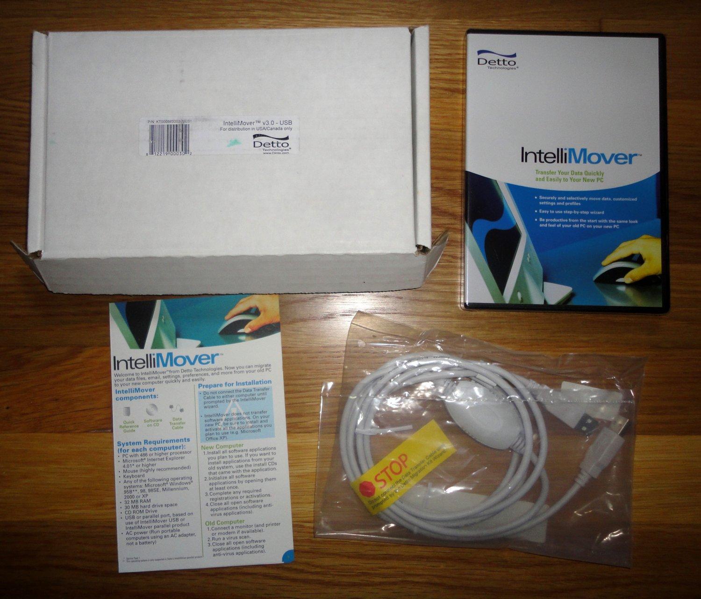IntelliMover - INTELLIMOVER v3.0 USB by DETTO - PC DATA TRANSFER KIT for Easy & Quick Data Transfer