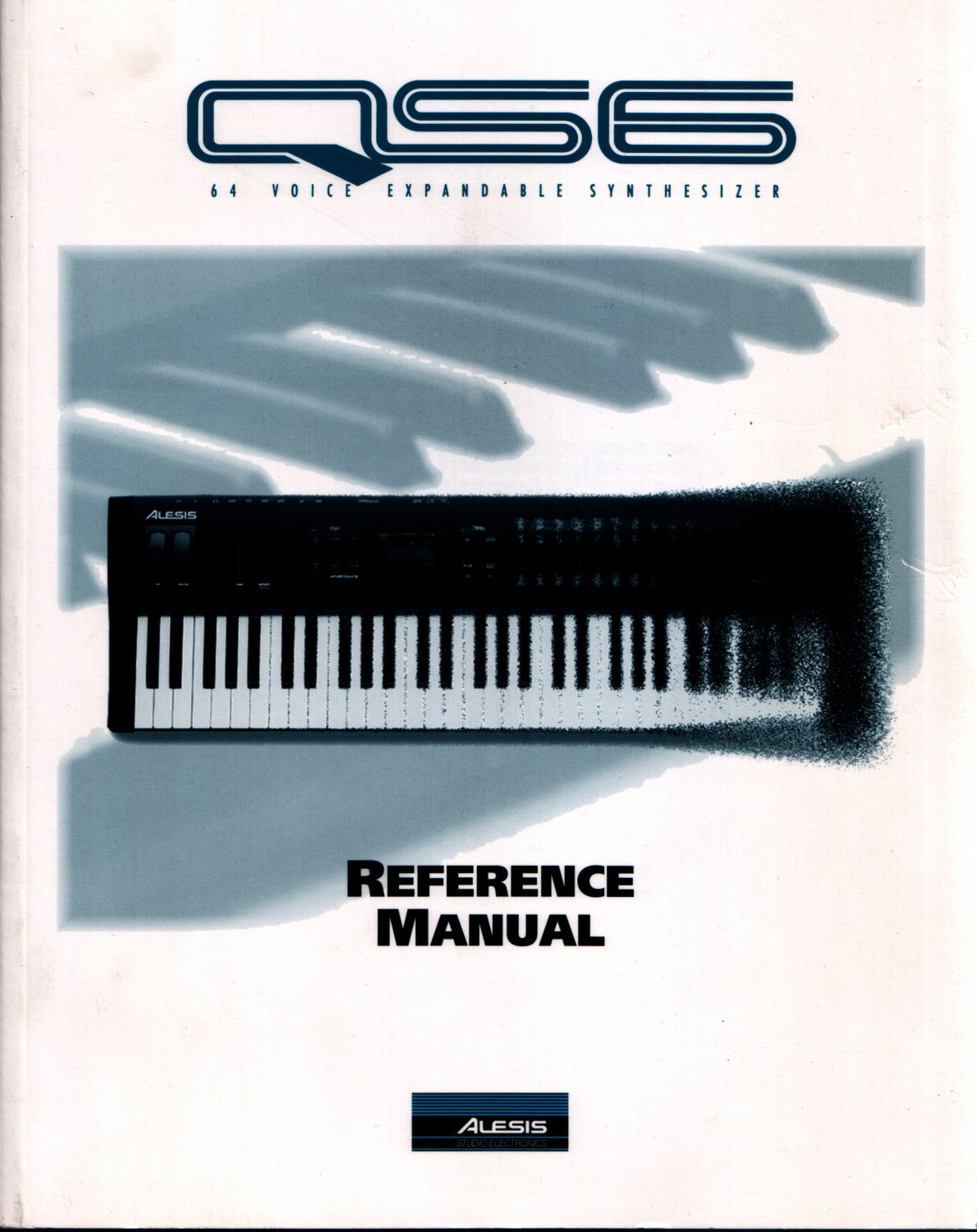 Original ALESIS QS6 REFERENCE MANUAL [1995] Original Manual for Alesis QS6 Synthesizer