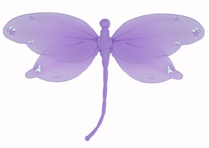 "10"""" Purple Jewel Dragonfly - nylon hanging ceiling wall baby nursery room wedding decor decoration"